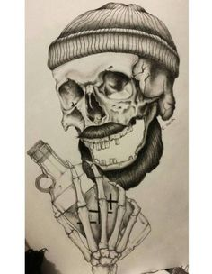 Drunken Sailor Skull by courtneyjx on DeviantArt