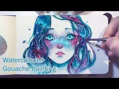 Starred Freckles - Watercolor + Gouache Painting Timelapse  by qinni - love this!