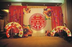 Traditional Chinese Wedding | Stage Set-up