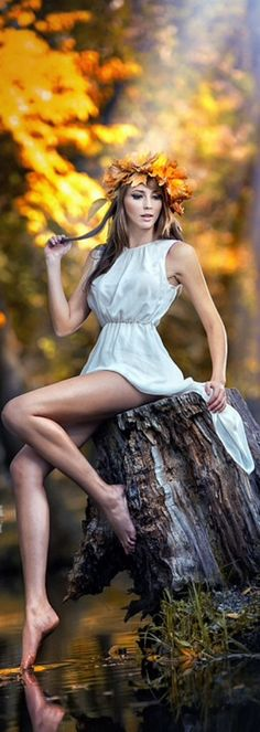 White Dress on Spring Waters