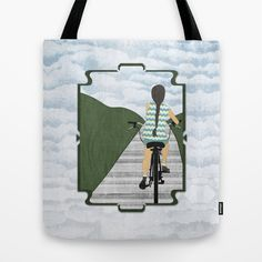 Cyclist From Behind Tote Bag by Aquamarine Studio - $22.00 Girl, female, people, woman, teen, youth, illustration, digital, paper, collage, texture, bike, bicycle, bike path, side walk, bike trail, recreation, sport, ride, cycle, cycling, cyclist, athletic, pedal driven, transportation, wheels, exercise, rider, single track vehicle, commuting, commute, touring, tour, mountain biking, hills, sky, physical fitness, cruising, contemporary, art, mixed media