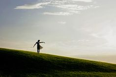 """la danse chez toi"" by Rona Keller, via Flickr. #rona_keller #photography #women #silhouettes #hills #outdoors #sky #grass #light"