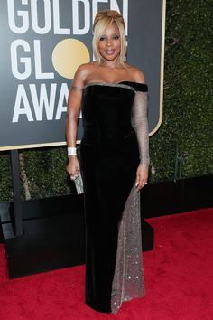 All the Glamorous 2018 Golden Globes Red Carpet Arrivals - Mary J Blige from InStyle.com