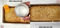 Eggless Banana Cake recipe / Eggless Banana Bread with step by step pictures with an amazing flavour of banana and the crunchiness of walnuts. Eggless Banana Cake Recipe, Eggless Baking, Cake Recipes, Snack Recipes, Dessert Recipes, Cooking Recipes, Desserts, Banana Walnut Cake, Banana Bread