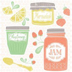 Jams Illustration by Maeve Parker for 2015 Food Calendar. www.maeveparker.com