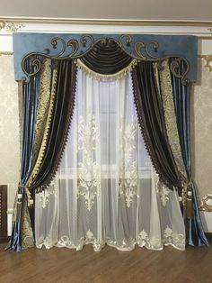 Ideas For Living Room Classic Style Curtains Classic Curtains, Modern Curtains, Swag Curtains, Home Curtains, Curtain Styles, Curtain Designs, Window Coverings, Window Treatments, Living Room Rug Placement