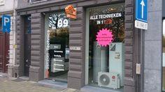 Etalagebelettering / Windowstickers - Brabo Antwerpen