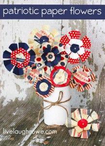 Patriotic Paper Flowers - live. laugh. rowe