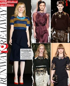 Runway to Real Way: Embellished Necklines - Celebrity Style and Fashion from WhoWhatWear