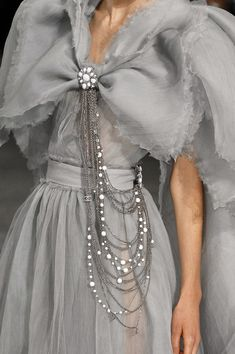 Chanel jewelry detail.