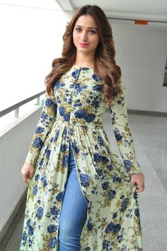 "High Quality Bollywood Celebrity Pictures: Tamannaah Bhatia Looks Super Sexy At ""Baahubali"" Promotional Interview In Hyderabad Party Wear Indian Dresses, Designer Party Wear Dresses, Pakistani Dresses Casual, Indian Gowns Dresses, Indian Fashion Dresses, Kurti Designs Party Wear, Dress Indian Style, Pakistani Dress Design, Indian Designer Outfits"