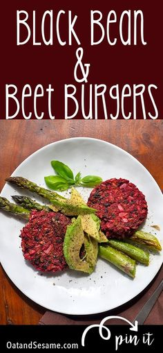 These easy veggie burgers are great to stock in the freezer. Brown rice, Beets + Tahini give these a healthy, nutty flavor! #VEGAN | #VEGETARIAN | #Plant Based | #Recipes at OatandSesame.com