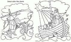 Bible Coloring Pages 8 Jesus Calms The Storm