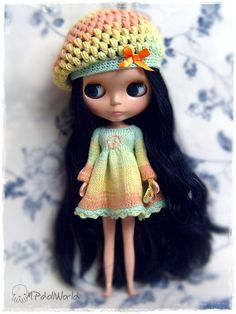 RESERVED LISTING for angiefans only -  OOAK Blythe Set Dress Hat and Purse