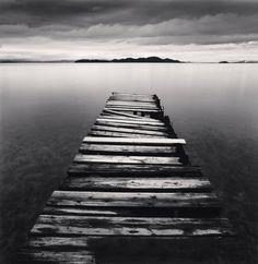 Michael Kenna.  Crumbling Boardwalk, Shiga, Honshu, Japan. 2003