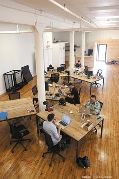 ChoreMonster's Over-the-Rhine office is on Central Parkway. The floor plan is open concept, with the working space in the back of the building.