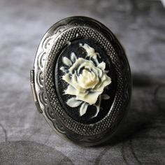 Gothic Victorian Jewelry Ring Locket  Posion by StarrlightJewelry, $10.00