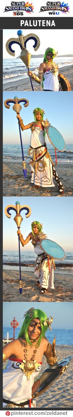 Palutena by BET GOLD in Super Smash Bros cosplay series | @nintendo  #3DS #WiiU Credits in original post at http://www.pinterest.com/zeldanet/super-smash-bros-cosplay-series/