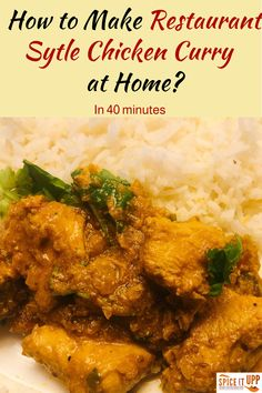 This amazing homemade easy chicken curry can be made in 30 minutes with just 7 ingredients. Follow the simple cooking steps with images to make chicken curry at home. #indianchickencurry #easychickencurryrecipe #quickchickencurryrecipe