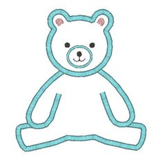 Teddy Bear Applique Machine Embroidery Design by SewChaCha on Etsy, $3.00