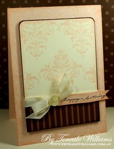 Blush Damask by {Teneale} - Cards and Paper Crafts at Splitcoaststampers