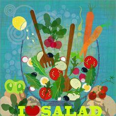 I love Salad   Elisandra