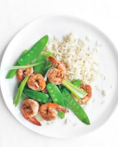 Salt-and-Pepper Shrimp with Snow Peas Recipe