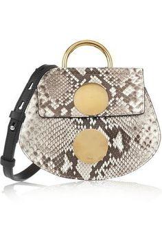 Faye mini python and leather shoulder bag #accessories #women #covetme #chloé #covetme #love #fashion #clothes #shoes #makeup