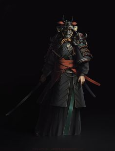 Samurai Concept, Yury Krylou on ArtStation at https://www.artstation.com/artwork/samurai-concept