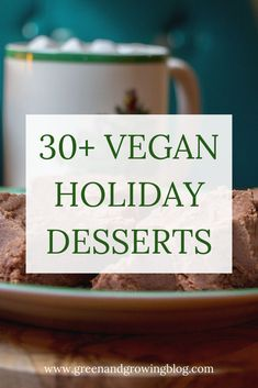 Are you looking for vegan Christmas recipes? This collection of easy vegan holiday desserts includes vegan and gluten-free Christmas recipes like pie,. Holiday Desserts, Holiday Baking, Holiday Recipes, Christmas Baking, Vegan Desserts, Vegan Recipes, Vegan Sweets, Vegan Dishes, Gluten Free Christmas Recipes