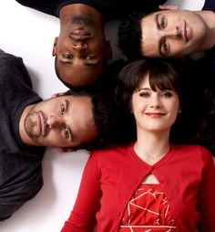 Damon, Max, Zooey and Jake New Girl Cast, New Girl Tv Show, New Girl Memes, New Girl Quotes, New Girl Nick And Jess, Jake Johnson, Jessica Day, Nick Miller, Zooey Deschanel