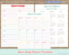 Maxine Renee Designs: Free 2014 Basic Planner Printables (While the calendar here is for 2014, the actual planner pages and checklists are undated.)