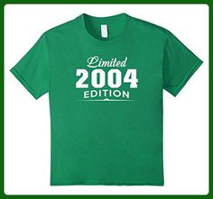 Kids Limited 2004 Edition T-Shirt - 13rd Birthday Gift Ideas 6 Kelly Green - Birthday shirts (*Amazon Partner-Link)