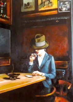 "Saatchi Online Artist thomas saliot; Painting, ""The bar"" #art"