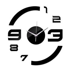 2016 New Quartz Watch Wall Clock Acrylic Mirror Diy Clocks Reloj De Pared Horloge Murale Living Room Modern Home 3d Stickers