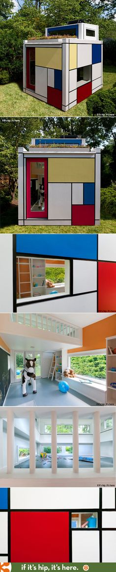2014 The Mondrian Prefab Playhouse by Barnes Vanze Architects www.bullesconcept.com