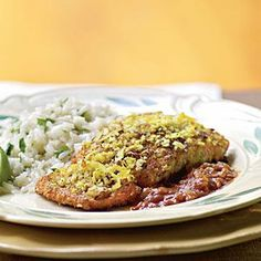 Spice up a traditional dish with this delectable recipe: Coconut-Crusted Salmon with Tamarind Barbecue Sauce served over a bed of naturally gluten-free and aromatic Jasmine Rice.
