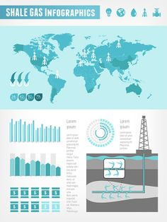 Shale Gas Infographic Vector Template.
