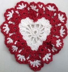 Crochet heart pattern (lots of free patterns at this site)..IF & WHEN you can get the site to pop up that is...keep trying. Some days it works, others, it doesn't.