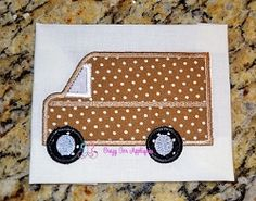 Delivery Truck Applique - 3 Sizes! | Trucks | Machine Embroidery Designs | SWAKembroidery.com Crazy for Appliques