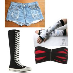 AJ Lee Outfits Polyvore Wrestling Outfits, Wrestling Clothes, Wwe Outfits, Tongue Piercing Jewelry, Superstar Outfit, Aj Lee, Black Windows, Wwe Divas, Sock Shoes