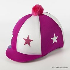 Capz Lycra Covers with Pom-Pom Stars The Stars are heat pressed on the cap and are