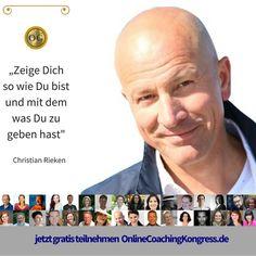 Christian Rieken ist Coach und Therapeut. Er verrät Dir im Interview beim #OnlineCoachingKongress, wie es auch über das Internet möglich ist, Menschen zu spüren, Menschen zu berühren. Melde Dich jetzt kostenfrei an, um dabei zu sein: