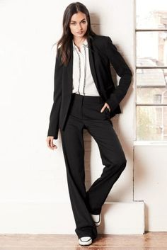 Black Tailored Slouch Trousers