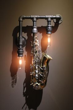 Would love to make a sax lamp for my McKenzie...love the idea of ...