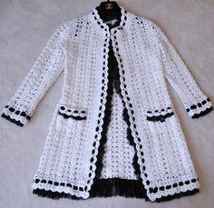 Chanel 05P  White Crochet Cardigan Jacket www.ebay.com