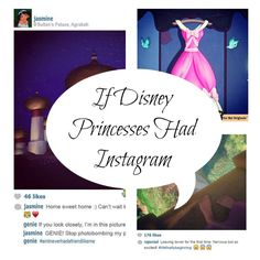 This series of Insta-snaps from Disney's elite eleven complete with comments and hashtags totally made my morning.