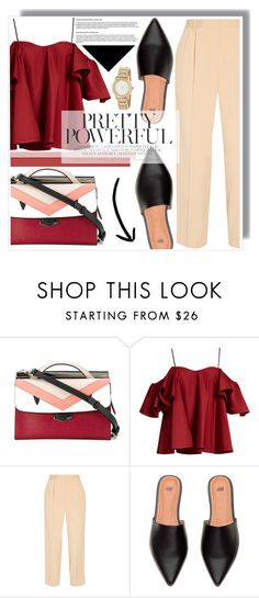 """""""Pink & Pretty Poweful"""" by anne-mclayne on Polyvore featuring Fendi, Anna October, The Row and DKNY"""