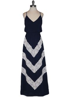 {Chevron Lace Maxi Dress} the lace chevrons make this so sweet