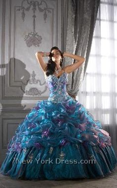 Tiffany 26644 - NewYorkDress.com A quinceanera dress? It very much appeals to my 6-year old self.